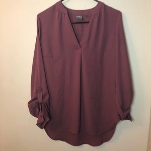 Soho plum blouse